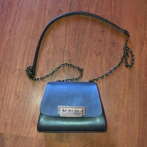 Mini Chain Leather Crossbody Bag